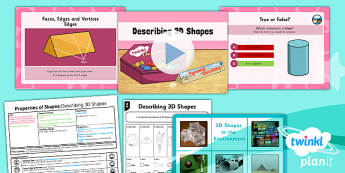 PlanIt Y3 Properties of Shapes Lesson Pack Shapes (2) - PlanIt, Properties of Shapes, 3D shapes, geometry