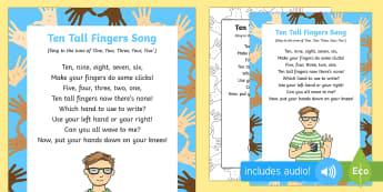 Ten Tall Fingers Song
