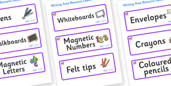 Pony Themed Editable Writing Area Resource Labels - Themed writing resource labels, literacy area labels, writing area resources, Label template, Resource Label, Name Labels, Editable Labels, Drawer Labels, KS1 Labels, Foundation Labels, Foundation S