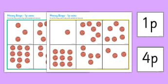 Money Bingo To 10p Using 1p Coins - money, bingo, lotto, coins