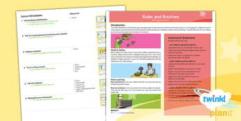 PlanIt Religion Year 2 RE Rules and Routine Unit Overview - RE Rules and Routine, religious, education, religion, ks1, y2, routines, school rules, planning, pow