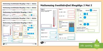 Matiau Mathemateg Gweithdrefnol Blwyddyn 3 Mat 2 - WL Social Media Requests in Welsh KS2 (HIGH PRIORITY) , mathemateg, blwyddyn 3, matiau , her,Welsh