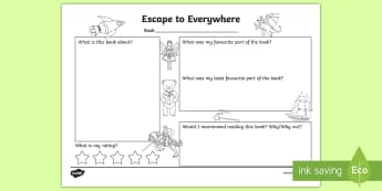 Australian Book Week- Escape to Everywhere Book Review - ACELT1582, ACELT1584, ACELT1589, ACELT1591, year 1, year 2, literature, literacy, guided reading, wr