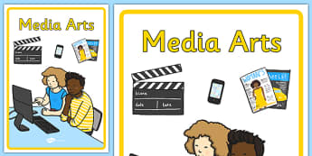 Australian Curriculum Media Arts Book Cover - book cover, front page, title page, subject. Australian Curriculum, labels, media,