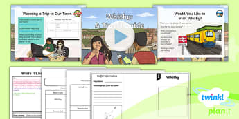 PlanIt Geography Y4 - What's It Like in Whitby Lesson 5 Whitby: A Travel Guide Lesson Pack - geography, UK, compare, Whitby, contrasting, location, physical, human, coast, seaside, travel, guide