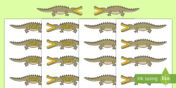 """Semnele """"mai mare decât"""" și """"mai mic decât"""" reprezentate de crocodili - compararea numerelor, mai mic, mai mare, egal, matematică, numerație, român, materiale, decupabil"""