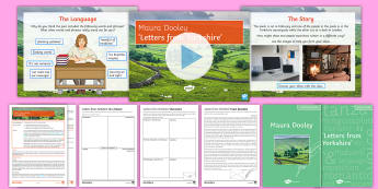 GCSE Poetry Lesson Pack to Support Teaching On 'Letters from Yorkshire' by Maura Dooley - maura Dooley, GCSE english Literature, Letters from Yorkshire, AQA poetry, Love and Relationships, p