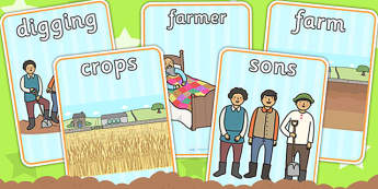 The Farmer and His Sons Display Posters - story books, aesop