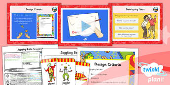 PlanIt DT LKS2 Juggling Balls Lesson 2 Designing Lesson Pack
