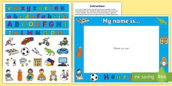 My Name Is... Photo Frame Activity - EYFS, Early Years, Reception, Nursery, Back To School, Transition, New School Year, First Week Back