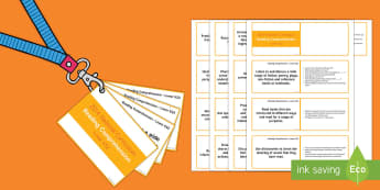 Lower KS2 Lanyard Sized Reading Comprehension Objectives Cards - LKS2, lower key stage 2, year 3, year 4, y3, y4, reading comprehension, reading objectives, genres,