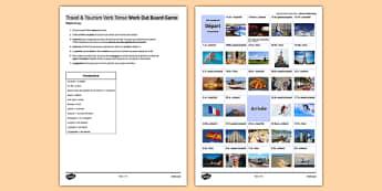 Les voyages & le tourisme : Jeu pour pratiquer les temps - french, present perfect, future imperfect, travel, tourism, holidays, vacances, game, jeu past, présent, passé, composé, imparfait futur