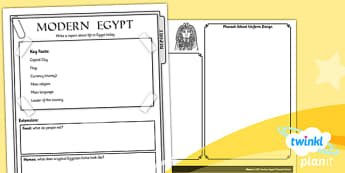 History: Ancient Egypt LKS2 Unit Home Learning Tasks