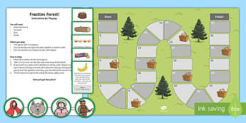 Fractions Forest Board Game