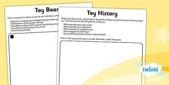 History: Toys KS1 Unit Home Learning Tasks