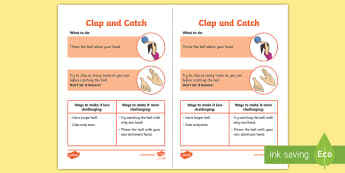 Clap and Catch Cricket Activity - Catching, Cricket, Striking and Fielding, skills, ball, task, challenge, PE