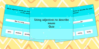 Using an Adjective to Describe a Noun Grammar PowerPoint Quiz