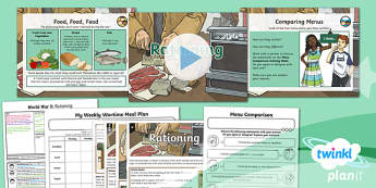PlanIt History UKS2 World War II Lesson 3: Rationing Lesson Pack