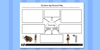 Stone Age Themed Research Map - stone age, research map, map