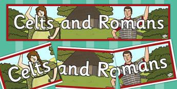 Celts and Romans Banner - celts, romans, illustrations