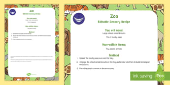 Zoo-Themed Edible Sensory Recipe - baby safe, babies, messy play, peas, weetabix, food play
