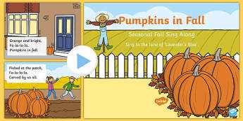 Pumpkins in Fall Song PowerPoint