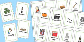 Three Syllable CL Playing Cards - three syllable, cl, playing cards, play, cards, cl sound