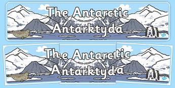 The Antarctic Display Banner Polish Translation - polish, antarctic, display banner, display, banner, polar regions, polar