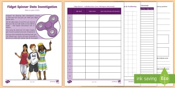 Fidget Spinner Data Investigation Activity Booklet - Fidget Spinner Resources, fidget spinner, toys, maths, mathematics, data investigation, data, statis