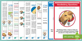 KS2 Extreme Earth: Focused Reading Skills Comprehension Pack  - Year 3, Year 4, Year 5, Year 6, reading comprehension, inference, understanding, reading dogs, SATs
