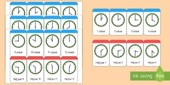 Mots illustrés (flashcards) : What's the Time, Mr. Wolf ? (L'heure) - Anglais LV