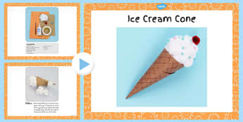 Ice Cream Cone Craft Instructions PowerPoint - craft, ice cream