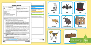EYFS Rhyming Hoops Adult Input Plan and Resource Pack - Phase 1, Aspect 4, Rhythm, Rhyme, letters and sounds, phonics, rhyme, rhyming words, sound the same,