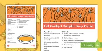 Fall Crockpot Pumpkin Soup Recipe