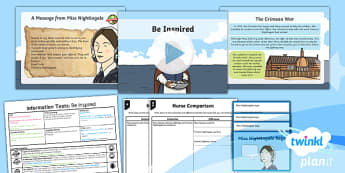 Significant Individuals: Florence Nightingale: Information Texts 3 Y2 Lesson Pack - Nurses, Victorians, Crimean war, mini topic, year one history, Mary Seacole