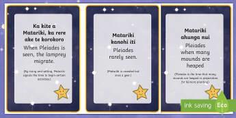 New Zealand Matariki Proverbs Flashcards - English/Te Reo Maori  - New Zealand Matariki, Matariki, New Year, Maori New Year, Maori, Celebration, Festival, Matariki Fla
