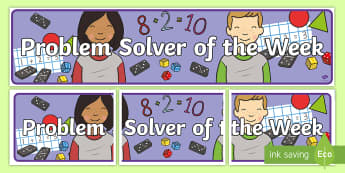 Problem Solver of the Week Display Banner - banner, maths, problem solving, reward, of the week,Irish