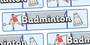 The Olympics Badminton Display Banner - Olympics, Olympic Games, sports, Olympic, London, 2012, display, banner, poster, badminton sign, Olympic torch, flag, countries, medal, Olympic Rings, mascots, flame, compete, tennis, athlete, swimming, race,
