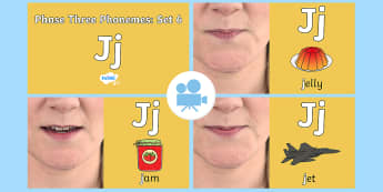 Phase Three Phonemes: Set 6: 'j' Video - Phonics, Letters and Sounds, Grapheme, pronunciation, j,v,w,x
