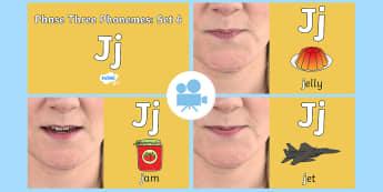 Phase 3 Phonemes : Set 6 'j' Video - Phonics, Letters and Sounds, Grapheme, pronunciation, j,v,w,x, Twinkl Go, twinkl go, TwinklGo, twinklgo