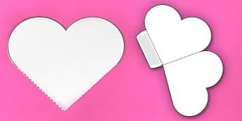Interactive Heart-Shaped Pocket Visual Aid Template - heart, aid