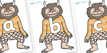 Phoneme Set on Wild Thing (1) to Support Teaching on Where the Wild Things Are - Phoneme set, phonemes, phoneme, Letters and Sounds, DfES, display, Phase 1, Phase 2, Phase 3, Phase 5, Foundation, Literacy