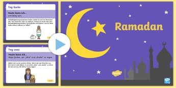 Ramadan täglicher Kalender der Freundlichkeit PowerPoint - Ramadan täglicher Kalender der Freundlichkeit, freundlich, großzügig, Muslime, Islam, Ramadan, ne