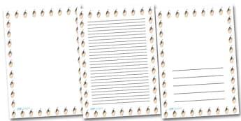 Hand Mouse Portrait Page Borders- Portrait Page Borders - Page border, border, writing template, writing aid, writing frame, a4 border, template, templates, landscape