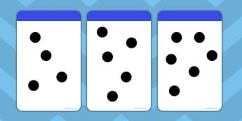 Random Dot Array Flashcards to 10 - flashcards, 10, random, dot