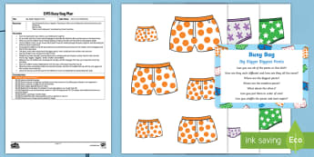 EYFS Big, Bigger, Biggest Pants Busy Bag Plan and Resource Pack - Aliens Love Underpants, Claire Freedman, space, ordering, height, length, size order