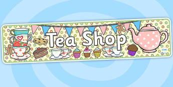 Tea Shop Role Play Banner-tea shop, role play, banner, tea shop role play, role play banner, banner for role play, display banner, shop banner
