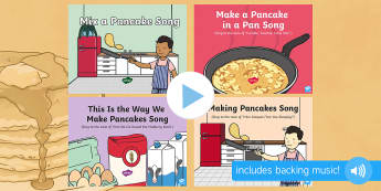 Pancake Day Songs and Rhymes PowerPoints Pack - EYFS, Early Years, Pancake Day, Shrove Tuesday, pancakes, songs