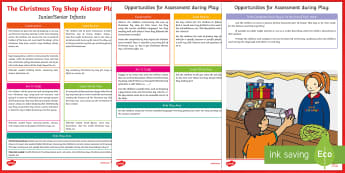 ROI Christmas Toy Shop Aistear Planning Template - Aistear, Infants, English Oral Language, School, The Garda Station, The Hairdressers, The Airport, T