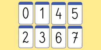 Karty z liczbami 0 20
